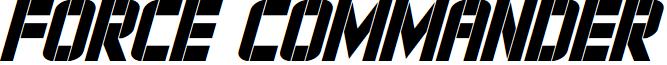 Force Commander Condensed Italic