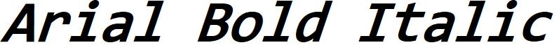 Arial Bold Italic