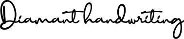 Preview image for Diamant handwriting Font