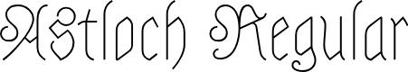 Preview image for Astloch Regular Font