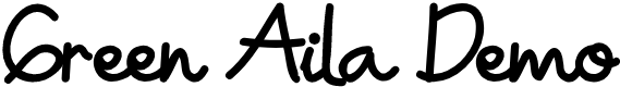 Preview image for Green Aila Demo Font