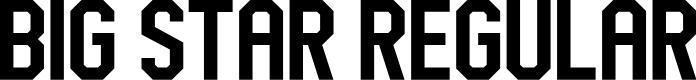 Preview image for Big Star Regular Font
