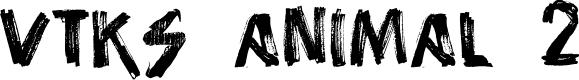 Preview image for vtks animal 2 Font