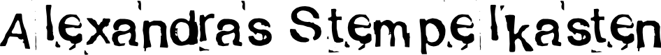 Preview image for Alexandras Stempelkasten Font