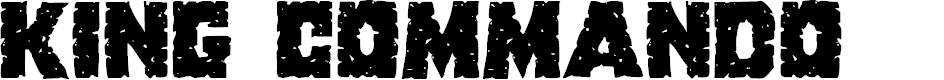 Preview image for King Commando Regular Font