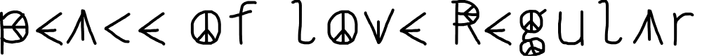Preview image for peace of love Regular Fonty Font