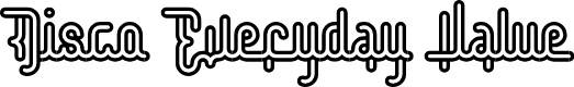 Preview image for Disco Everyday Value Regular Font