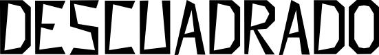 Preview image for Descuadrado Font