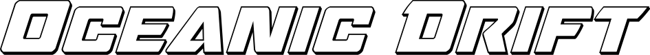 Preview image for Oceanic Drift 3D Italic