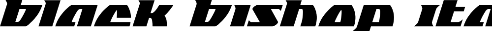 Black Bishop Italic