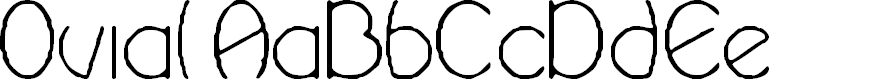Preview image for Ovial Font