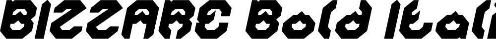 Preview image for BIZZARE Bold Italic
