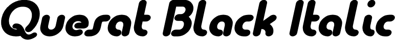 Preview image for Quesat Black Italic Demo
