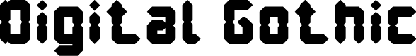 Preview image for Digital Gothic Font