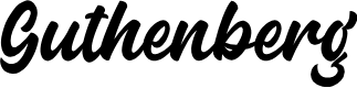 Preview image for Guthenberg Font