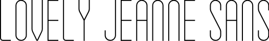 Preview image for Lovely Jeanne Sans Font