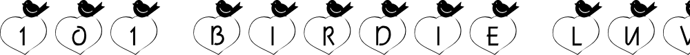 Preview image for 101! Birdie LuV Font
