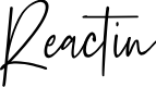 Preview image for Reactin Font
