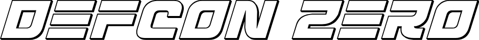 Preview image for Defcon Zero Outline Italic