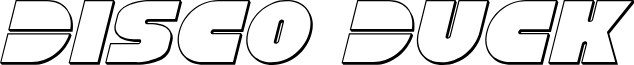 Disco Duck Outline Italic
