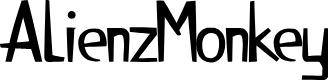 Preview image for AlienzMonkey Font