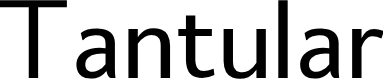Preview image for Tantular Font