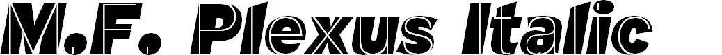 Preview image for M.F. Plexus Italic Font