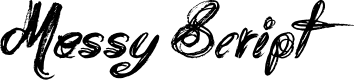 Preview image for Messy Script Font