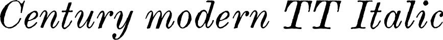 Preview image for Century modern TT Italic