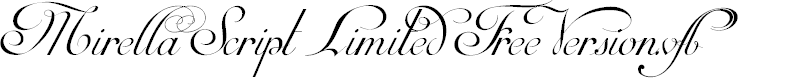 Preview image for Mirella Script Limited Free Version.vfb Font