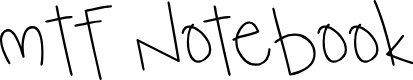 Preview image for MTF Notebook Font