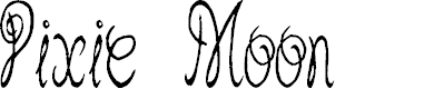 Preview image for Pixie Moon Font