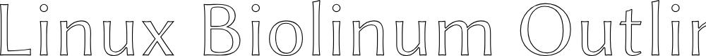 Preview image for Linux Biolinum Outline