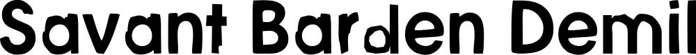 Preview image for Savant Barden DemiBold Font