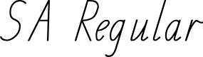 Preview image for SA School Handwriting Font