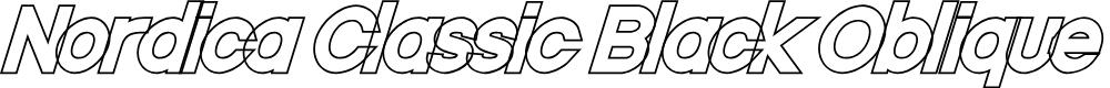 Preview image for Nordica Classic Black Oblique Outline