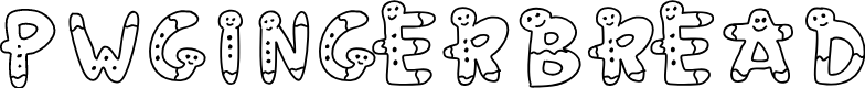 Preview image for PWGingerbread Font