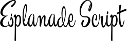 Preview image for Esplanade Script PERSONAL USE Font