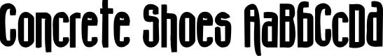 Preview image for Concrete Shoes Font