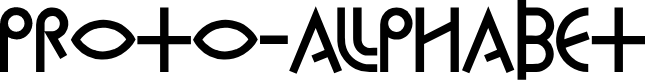 Preview image for Proto-Alphabet Font