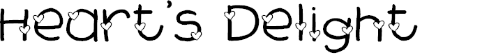 Preview image for 2Peas Heart's Delight Font