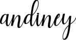 Preview image for andiney Font