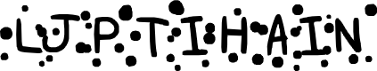 Preview image for LJPTIHAIN Font