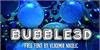 Bubble3D Font screenshot electric blue