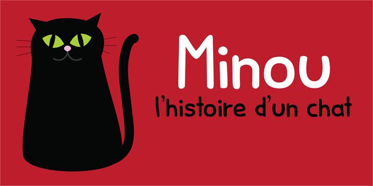 Minou DEMO Font design graphic
