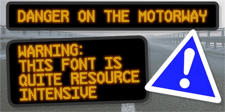 Danger on the Motorway Font clock screenshot