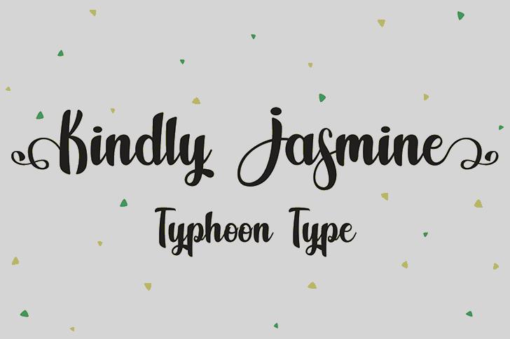 Kindly Jasmine Font screenshot design