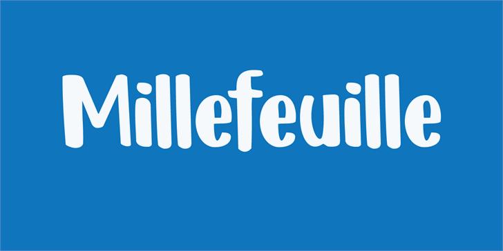 DK Millefeuille Font design screenshot