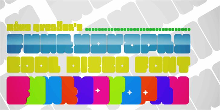 Funkygraphy Font screenshot design