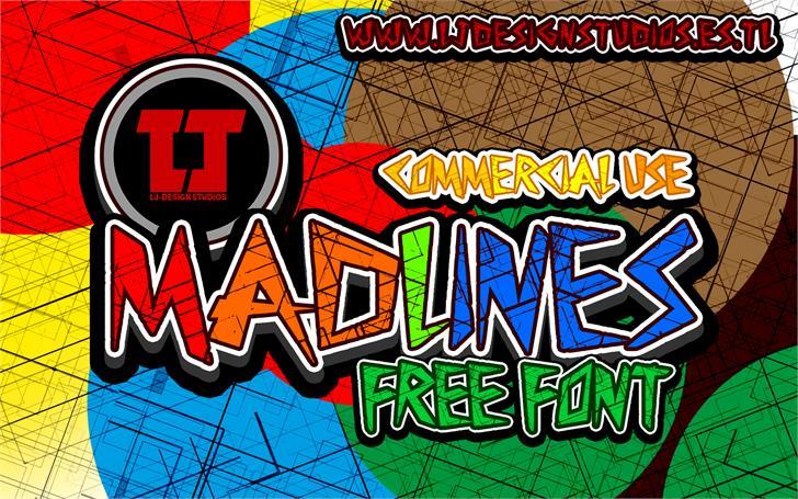 MadLines Font cartoon poster